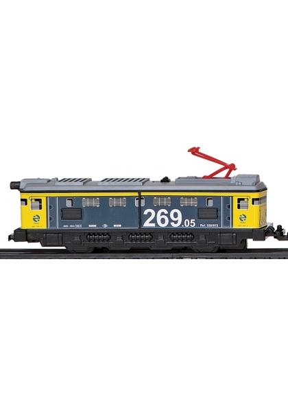 Locomotora Sin Motor Amarilla Y Verde