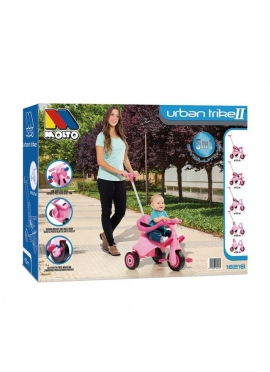 Tricycle With Tray And Stick Pink