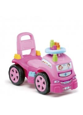 Correpasillos Camion Rosa Con 10 Blocks
