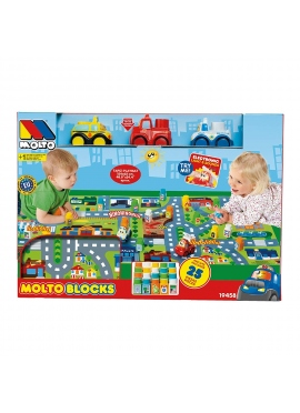 Set Blocks Cars + Carpet 24 PCs