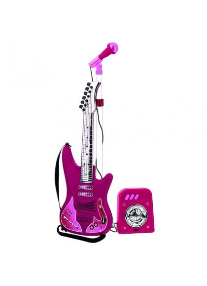 Set Guitarra Micro Y Bafle Niña