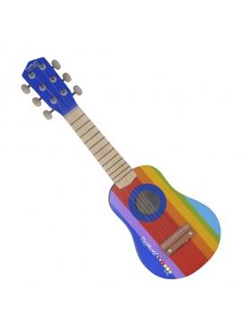 Guitarra De Madera Pintada 55 Cm