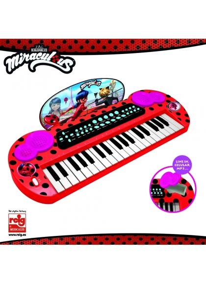 Keyboard Con ConexiónY Salida Audio Mp3 Lady Bug