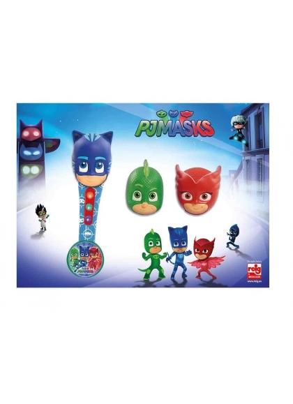 Micro De Mano Con 3 Cabezas Pj Mask