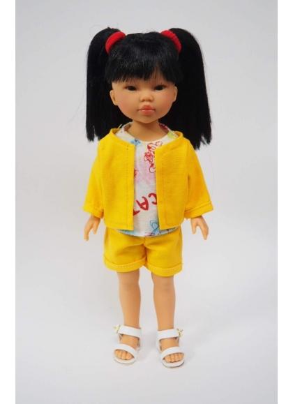 Umi Conjunto Amarillo Y Camiseta Estampada 28 cm