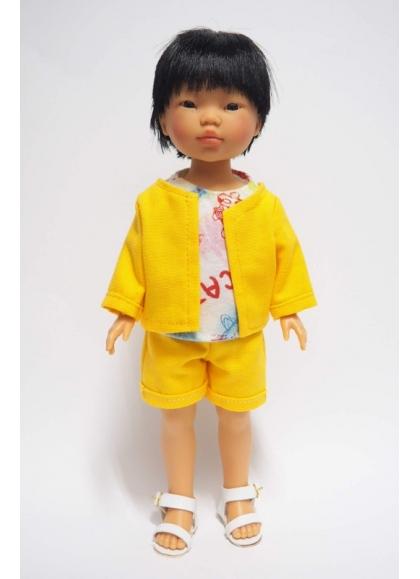 Kenzo Con Conjunto Amarillo Y Camiseta Estampada 28 cm
