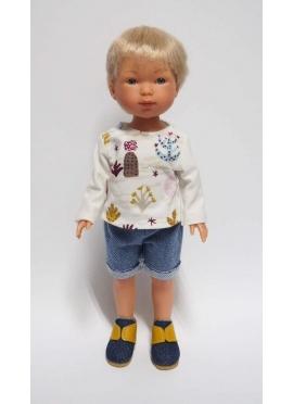 Nylo Con Jeans Corto Y Camiseta Captus 28 cm