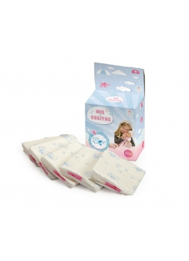 Caja 5 Pañales Para Bebes De 40 A 50 Cm