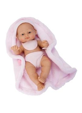 Rn New Born Baby 28 Cm Niña Manta