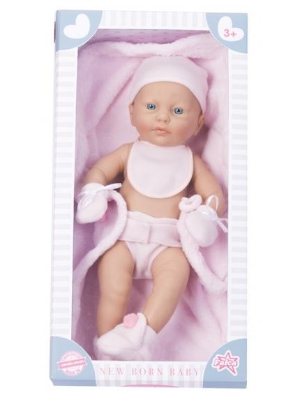 Rn New Born Baby Niña 42 cm Babero Manta