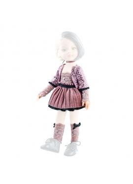 Conjunto ropa muñeca 32 cm rosa y negro - Las Amigas de Paola Reina