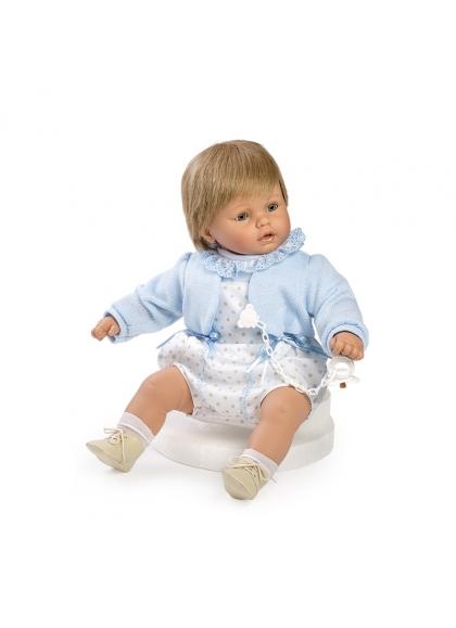 Baby dulzón lloron pelele y chaqueta azul en caja