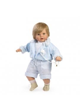 Baby dulzón con traje y chaqueta azul en bolsa