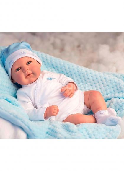 Bebé Reborn Arias Mies Azul con Manta