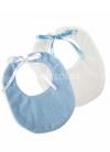Set 2 bavaglini blu e bianchi
