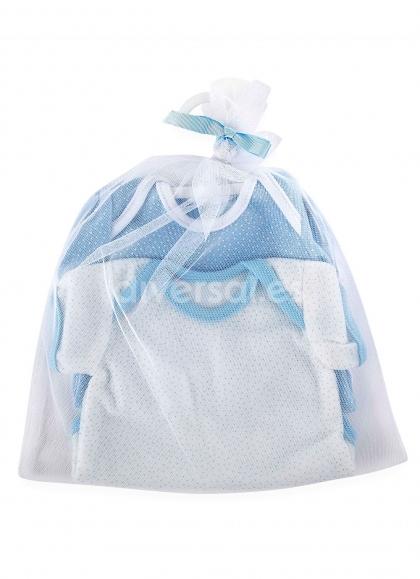 Set 2 Bodies Azul Y Blanco Para Muñeco 45 Cm