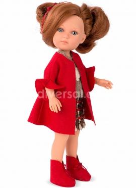 Elegance 36 Cm Carlota Con Conjunto Rojo