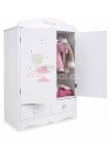 Firenze Wardrobe 40x20,50x61 With 2 Drawers With 5 Hangers