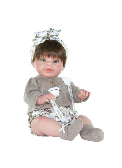 Muñecas Magic Baby MUÑECAS 47 CM Paula Conjunto Marrón