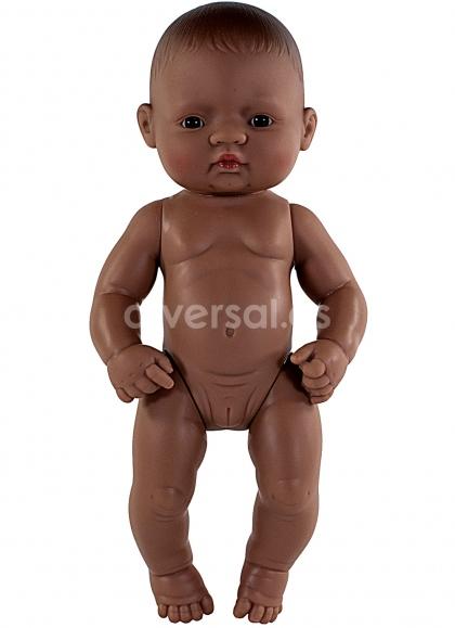 Miniland Educational Muñecos 32 Cms Bebes sin Ropa Niña Latinoamericana 32 cm