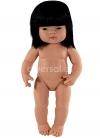 Miniland Educational Muñecos 38 Cms Bebes sin Ropa Niña Asiática 38 cm