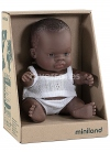 African girl in a box