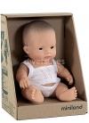Le garçon Asiatique dans la boîte