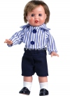 Mini-Juanin Perez Nautical Shorts and Striped Shirt