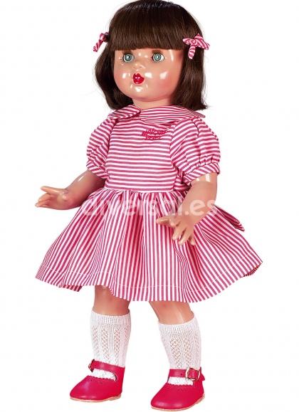 Mariquita Perez Kleid mit Streifen Weiß und rot