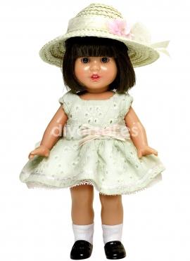 MINI Mariquita Perez DRESS WITH BEIGE