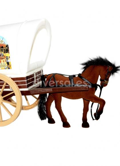 MEDIUM CARAVAN WITH A HORSE