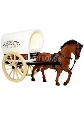 LARGE CARAVAN WITH A HORSE