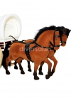 LARGE CARAVAN WITH TWO HORSES