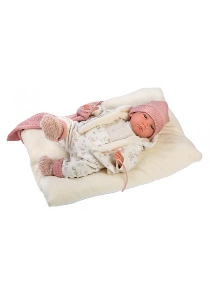 Reborn Hairless 42 Cm With Bunny Pajamas Reborn Babies Llorens Babies Reborn Llorens 18008