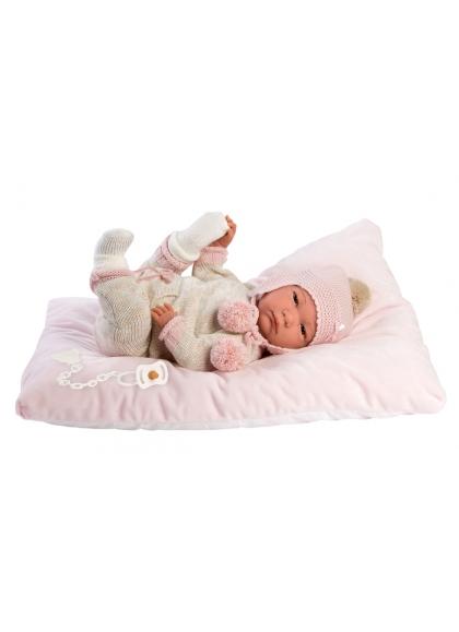 Reborn Hairless 42 Cm mit rosa und beigen Pyjamas Reborn Babies Llorens Reborn Babies Llorens 18011