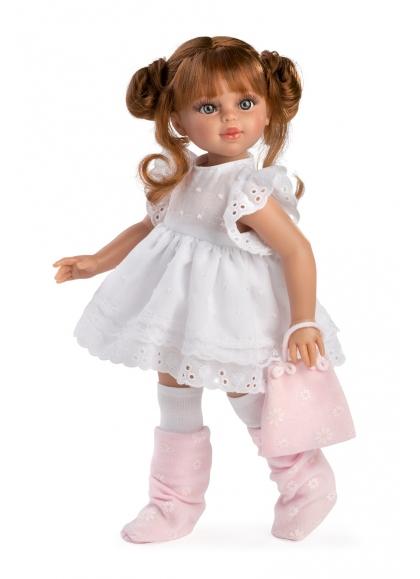 Muñecas Asi Sabrina 40 cm Muñecas Colección Sabrina Pelirroja Vestido Blanco