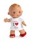 Muñecas Asi Dani y Daniela 23 cm Dani Camiseta Corazón