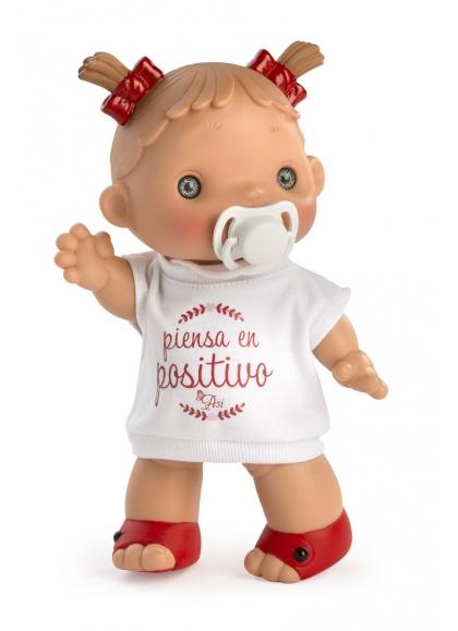 "Muñecas Asi Dani y Daniela 23 cm Daniela Camiseta ""Piensa En Positivo"""