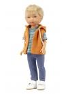 T-shirt Nylo Con Jeans A Righe E Gilet Arancione 28 cm