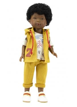 Bambola Omar, Vestita in Blu - set di abbigliamento, senape - 28 cm