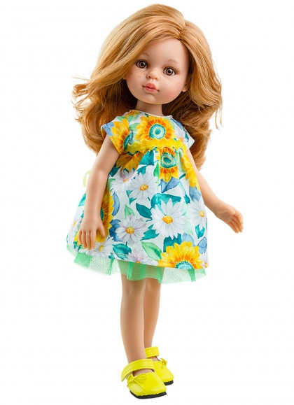 Dasha Con Vestido Flores 32 cm Muñecas Paola Reina las Amigas 32 cm