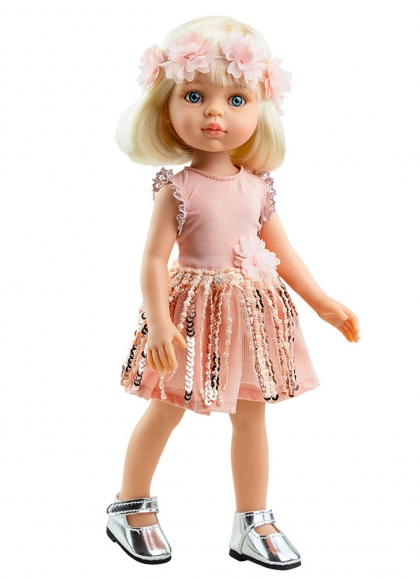 Claudia Funky With Pink Dress 32 cm Paola Reina Las Amigas Dolls 32 cm