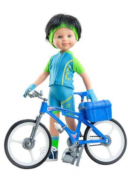 Carmelo Cyclist 32 cm Paola Reina Las Amigas Dolls 32 cm