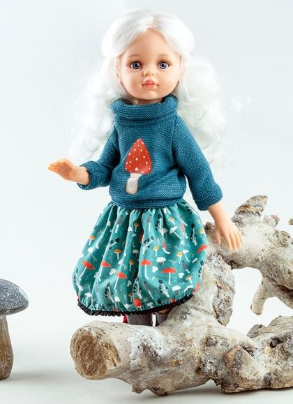 Cecile con set blu