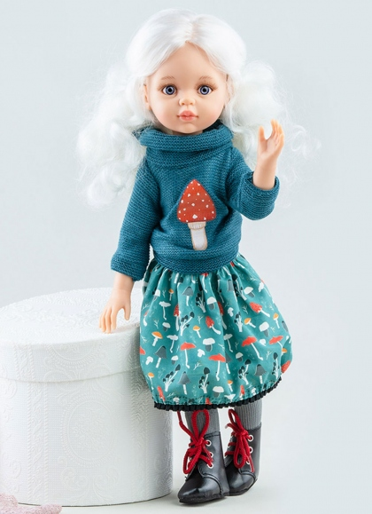 Cecile Articulated With Blue Set Paola Reina Las Amigas Puppen 32 cm