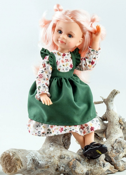 Cleo Articulated With Green Set Paola Reina Las Amigas Dolls 32 cm