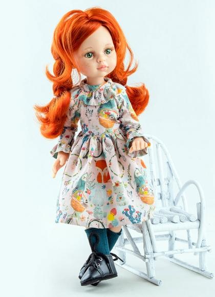 Cristi Articulada Con Vestido Estampado Muñecas Paola Reina las Amigas 32 cm