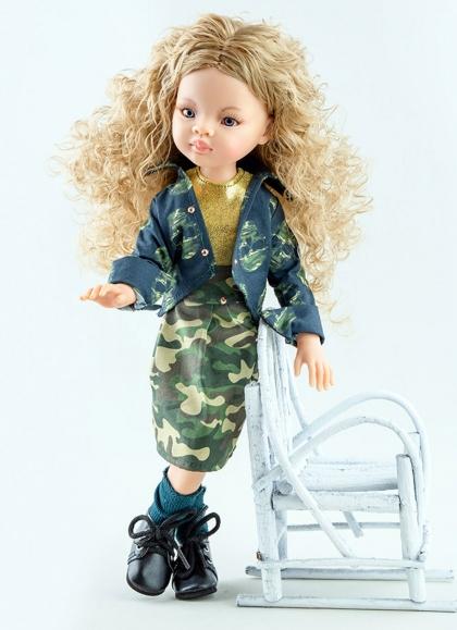 Artikulierte Manica mit Camouflage-Set Paola Reina Las Amigas Puppen 32 cm