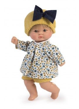 Bomboncin Floral Shirt Set, Mustard Pants 20 cm