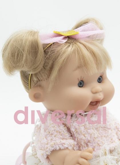 Rosa Pepote mit Haaren 26 cm